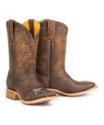 Tin Haul Brown Mudflap Too Leather Cowboy Boot Men Zulily