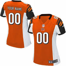 Cincinnati Women's Orange Bengals Jersey Customized