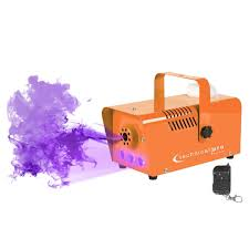 halloween lighting effects machine. Technical Pro Halloween Orange Fog Machine With Wireless Remote Control And Built-in LEDs Lighting Effects N