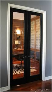 french doors for home office. Glass Doors, Black Door With White Trim, Grey Walls And Dark Floors! French Doors For Home Office