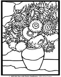 Small Picture coloring page Vincent van Gogh Kids n Fun httpwwwkids n fun