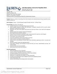 Accounts Payable Clerk Resume Objective Accounts Payable Clerk