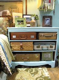 Creative uses for vintage suitcases nightstand