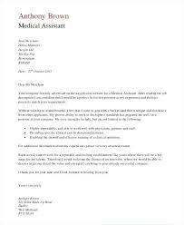Medical Application Letter Sample Sample Cover Letters For Medical Assistant Medical Assistant Cover