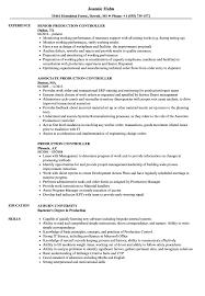 Production Resumes Production Controller Resume Samples Velvet Jobs