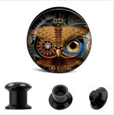 Dream Catcher Tunnels Acrylic Owl And Dream Catcher Ear Gauges Plugs And Tunnels 29