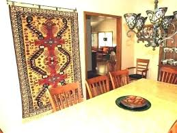 crpet how to hang a rug persian on wall