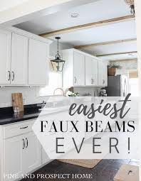 easiest faux beams ever pine and