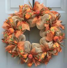 Fall Wreath Fall Pumpkin Deco Mesh Burlap Wreath Fall Wreath Harvest Wreath