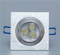 square 3x1w ceiling light 3w led spot light lamp recessed led lamp downlight led square panel light 100 240v white warm white led driver dimmable