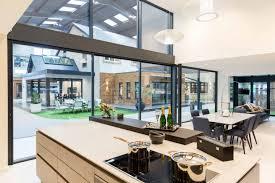 xp glide panoramic glass doors in the express leeds showroom