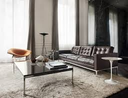 The florence knoll coffee table (rectangular) has an overall height of 17 (43.2 cm), width of 45 (114.3 cm), and depth of 22. Florence Knoll Coffee And End Tables Knoll