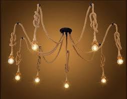 vintage hemp rope spider pendant light antique classic adjule diy spider light retro edison bulb pendant lamp globe pendant light light pendants from