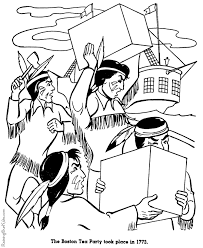 Small Picture Boston Tea Party history coloring page for kid 019