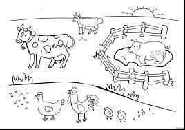 Farm Animal Coloring Book With Animals Toys Also Preschool Kids