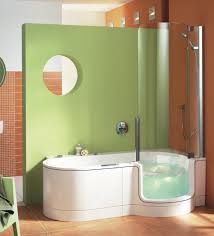 twin line walk in bathtub and shower combouniversal design style regarding combination decorations 6