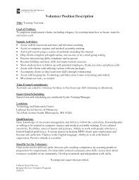 Activity Assistant Job Description For Resume Medical Assistant Job Description Resume Resume Badak 22