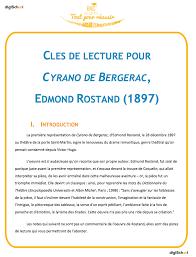 Fiche De Lecture Cyrano De Bergerac Bac L