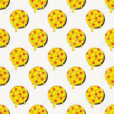 repeating pizza background. Fine Background Hand Drawn Tasty Pizza Circles Seamless Pattern Modern Stylish Repeating  Fast Food Service Elements Background For Repeating Pizza Background K