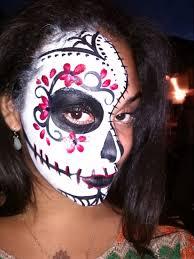 image of beauty sugar skull face paint