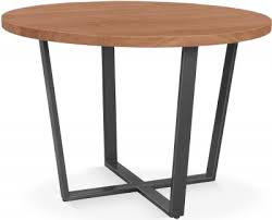 clemence richard palermo solid walnut round dining table 110cm 739