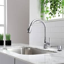 Rohl Kitchen Faucet Parts One Handled Krauss Kitchen Fauchet With Optional Soap Dispenser