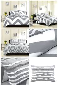 dark grey duvet cover queen grey white large chevron bedding teen girl twin xl full queen