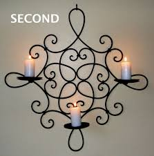 wrought iron candle holder hunter valley homewares image zoom for wrought iron candle regarding wall holders