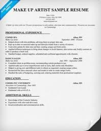 artist resume sles make sle panion freelance makeup professional sample for  template