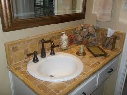 travertine tile bathroom countertops. Brilliant Travertine Travertine Tile Counter Top With Porcelin Sink Inside Tile Bathroom Countertops R