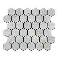 floor tile patterns. Unique Patterns Bianco Venatino Carrara White Carrera Marble Polished 2 Inch 2 X 2  Hexagon Mosaic Tile Sheet To Floor Patterns