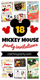 mickey mouse party invitation how cool are these 18 fun mickey mouse party invitations