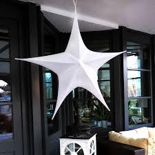 Großer Deko Stern 110 X 95 Cm Weiß Zum Aufhängen Weihnachten