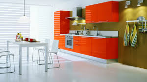 Orange And White Kitchen Orange Kitchen Decorating Ideas Kitchen Design Orange Kitchen