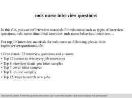 mds nurse cover letter b da