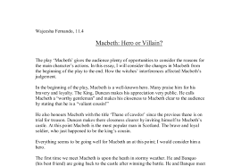 macbeth hero or villain gcse english marked by teachers com document image preview