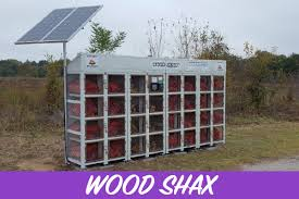 Solar Powered Vending Machine Simple Wood Shax Outdoor Vending Solutions