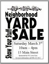 Neighborhood Garage Sale Flyer Templates Airsee Me