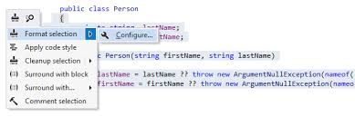 Style Format Code Style Formatting Features Resharper