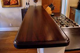 Wood Bar Top 1 3 4 Inch Sapele Mahogany Wood Bar Top In Red And Brown Colors