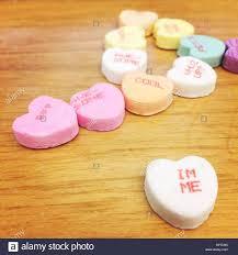 Candy Herzen Zum Valentinstag Mit Einer Vielzahl Von Sprüche