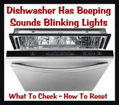 beeping sounds blinking lights