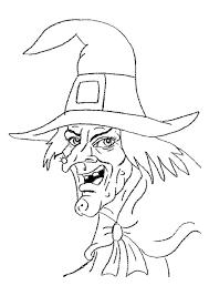 Coloriage Halloween Portrait Sorciere Sur Hugolescargot Com