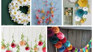 Paper Flowers Spring Decor Ideas - Spring Decorating Ideas