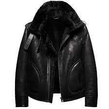 denny dora b3 shearling leather jacket mens shearling coat mens fur coat pilot leather jacket