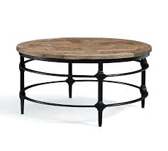 small round cocktail table parquet reclaimed wood round coffee table pottery barn within designs 0 small
