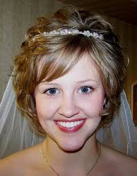 wedding hairstyles short hair with veil