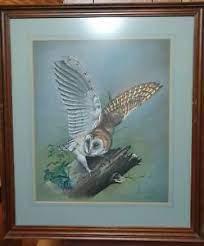 Barn Owl Original Pastel by Alan Otter.   eBay