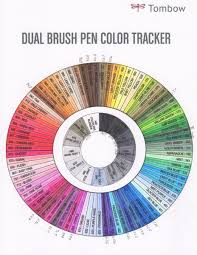 Tombow Dual Brush Pen Blank Color Chart Marker Madness Tombow Abt Dual Brush Pens Tandika Com