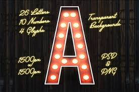 Free Download Letter Free Download Vintage Style Marquee Bulb Sign Letters Pack